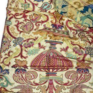 Beautiful  Fabric Remnant High End Scrap Gold